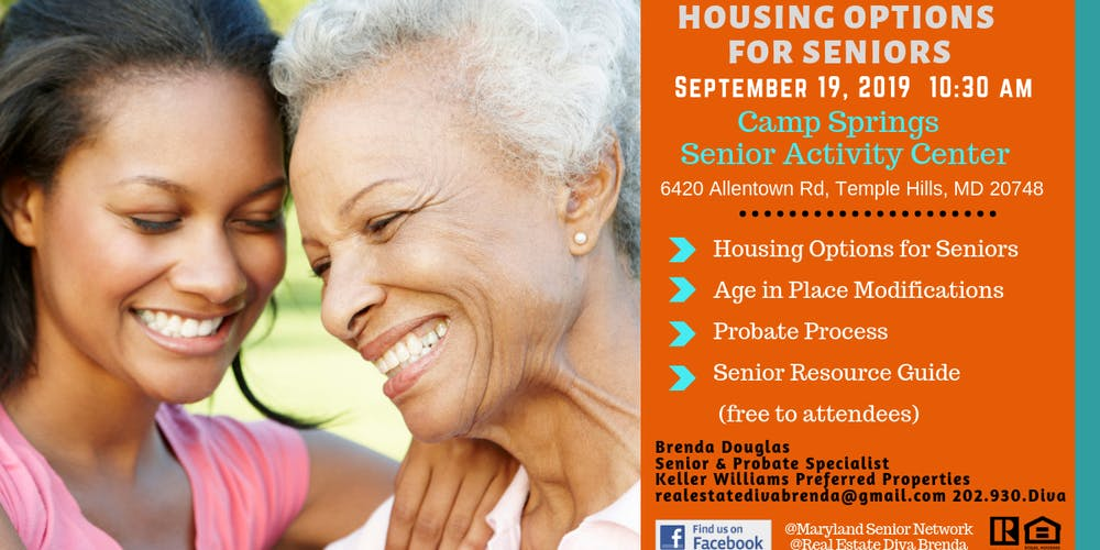 Resources Housing Options For Seniors Tickets Thu Sep 19 2019