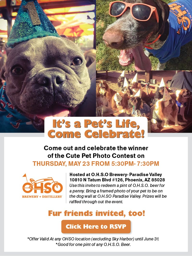 O.H.S.O. Brewery | PHOENIX magazine - It's A Pet's Life Event