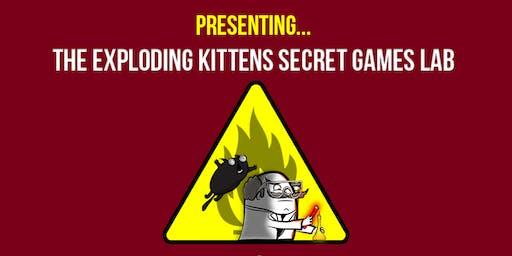 Exploding Kittens Secret Games Lab @ Two Bit Circus!