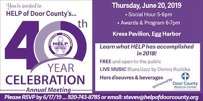 HELP of Door County's 40th Year Celebration