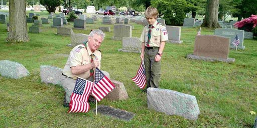 Flag Posting at Highland Memorial Cemetery