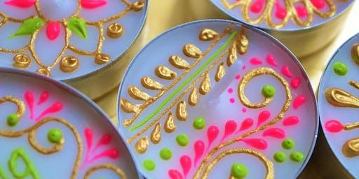 Henna Inspired Tea Light & Canvas Design Workshop