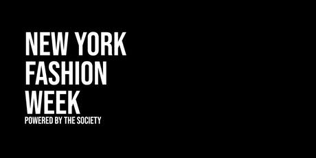 New York Fashion Week powered by The SOCIETY tickets