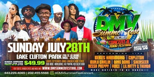 DMV Summer Fest Concert and Food Festival 2019