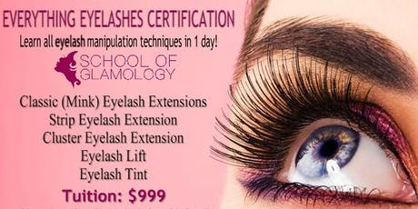 624d3e142e1 Orlando, Everything Eyelashes Certification by School of Glamology tickets