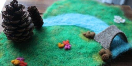 Biblio jeunesse : Atelier de feutrage à l'eau / Wet Felting Workshop