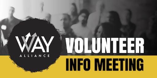 WAY Alliance Volunteer Info Meeting (Little Elm)