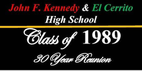 JFK & EL Cerrito High School 30 Year Reunion tickets