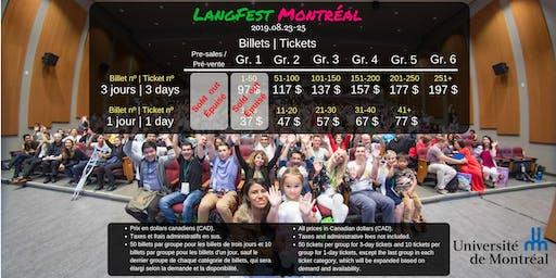 LangFest Montréal: 2019.08.23-25 (08.20-22: Free social activities/Activités sociales gratuites)