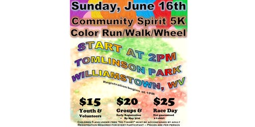 Community Spirit 5K Color Run/Walk/Wheel