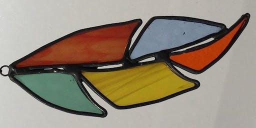 Stained Glass Garden Spirit Feather Workshop 7/13/19
