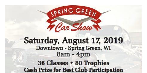 Spring Green Car Show 2019