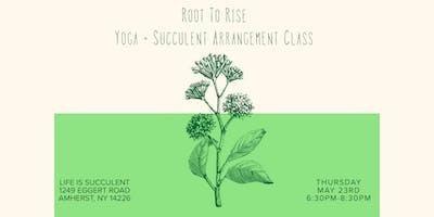 Yoga + DIY Succulent Arrangement Class