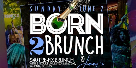 Sunday 2hr Open Bar Brunch + Day Party, Free Champagne Bottle for Bdays tickets