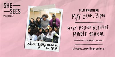 """She Sees Presents: """"What You Mean to Me"""" film premiere"""