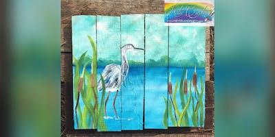 Grey Heron: Essex, Crazy Tuna with Artist Katie Detrich!