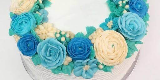 Cake Decorating Class: Summer Wreath Cake at Fran's Cake and Candy Supplies