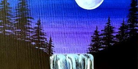 Paint Wine Denver Moonlight Waterfall Sat June 29th 3:00pm $35 tickets