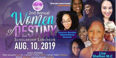 Women Of Destiny 2nd Annual Scholarship Luncheon tickets