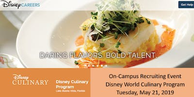 Disney Culinary Program On Campus Recruitment Event