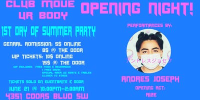 Club Move Ur Body: 1st Night of Summer Party (Opening Night)