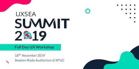 UXSEA Summit 2019 - Full day UX Workshop tickets