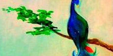 Paint Wine Denver Peacock Feathers Tues July 2nd 6:30pm $30 tickets