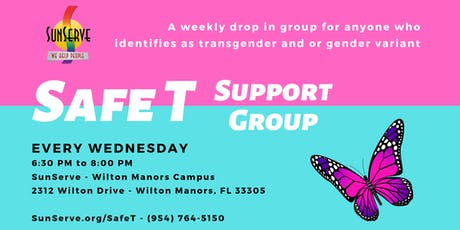 Safe T - Transgender and or Gender Variant Support Group (weekly) tickets