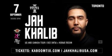 Jah Khalib Concert in Toronto | Jah Khalib в Торонто tickets