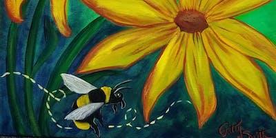 "Let's Paint!   ""Bee Happy"""