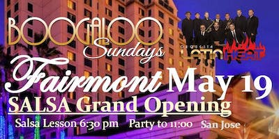 Boogaloo Sundays presents Salsa at the Fairmont with Latin Heat