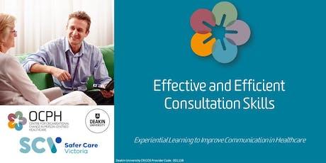 Geelong OCPH Communication training: 'Effective & Efficient Consultation Skills Workshop' tickets