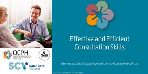 Geelong OCPH Communication training: 'Effective & Efficient Consultation Skills Workshop'