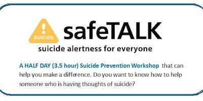 SafeTALK Suicide Alertness For Everyone Tuesday 4th June 2019 10am