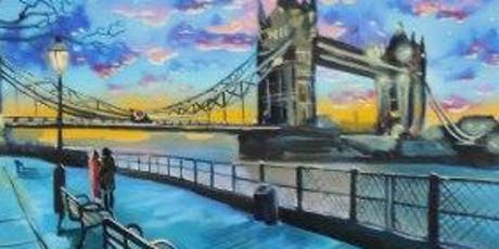 Paint London + Wine! London Bridge, Thursday 18 July tickets
