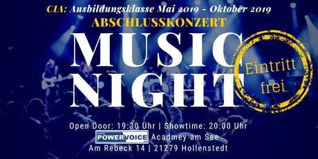 13. MUSIC NIGHT: CIA - ABSCHLUSSKONZERT Tickets