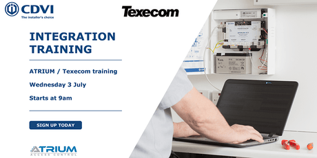 CDVI - Texecom Integration Training tickets