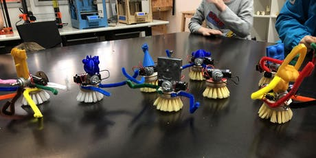FabLabKids: Mini-Roboter selber bauen - 3D modellieren, lasern, löten (Alter 7-9 Jahre) Tickets