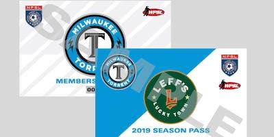 Milwaukee Torrent Membership, Season and Flex Plan Tickets 2019 Men NPSL and Women WPSL