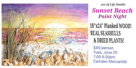 Paint on Wood: Sunset Beach tickets