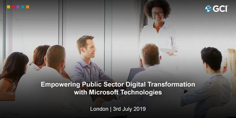 Empowering Public Sector Digital Transformation With Microsoft Technologies   tickets