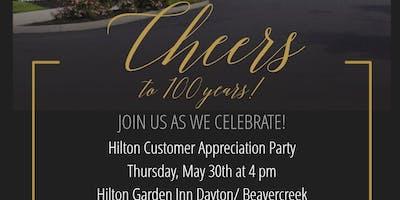 Hilton Garden Inn Dayton/Beavercreek Cheers to 100 Years!