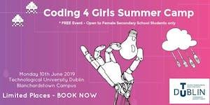 TU Dublin Coding4Girls Summer Camp 2019 - FREE EVENT