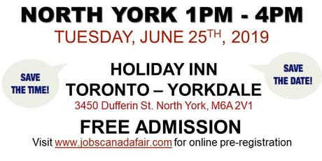 FREE: North York Job Fair – June 25th, 2019 tickets