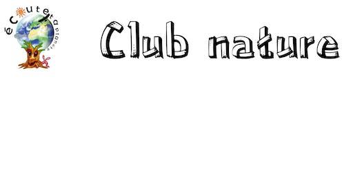 Club nature du 22 au 26 juillet 2019