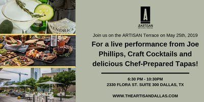 Craft Cocktails and Live Music on the ARTISAN Terrace
