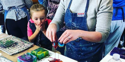 Childrens Liquid Glass Magnets; A Pouring Medium Workshop in Napanee