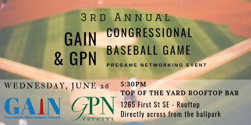 Pre Congressional Baseball Game Networking Reception