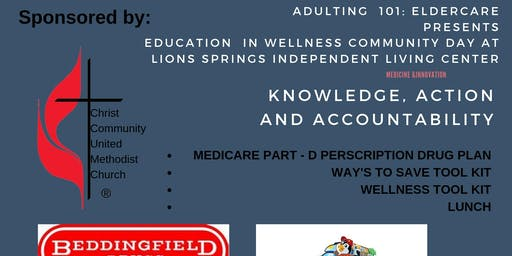 ADULTING 101: ELDER CARE PRESENTS EDUCATION IN WELLNESS COMMUNITY DAY