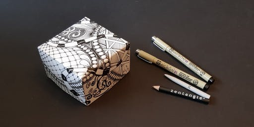 Zentangle Projects - Tangled Box (Beyond the Basics) 2 Hour Workshop